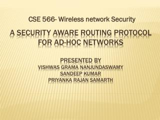 CSE 566- Wireless network Security