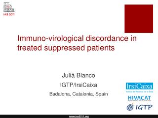 Immuno-virological discordance in treated suppressed patients