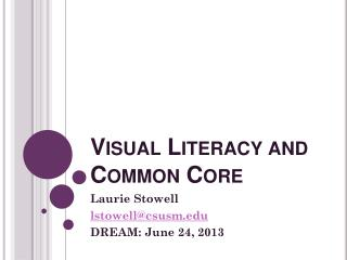 Visual Literacy and Common Core