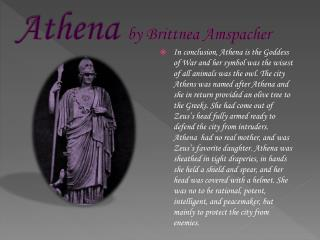 Athena  by Brittnea Amspacher