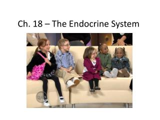 Ch. 18 – The Endocrine System