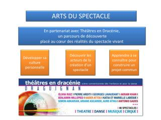 ARTS DU SPECTACLE