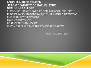 AMA HOD DAY 2014