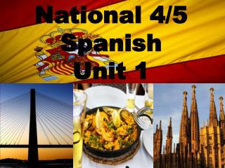National 4/5 Spanish Unit 1