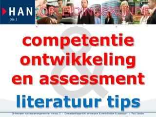 competentie ontwikkeling en assessment literatuur tips