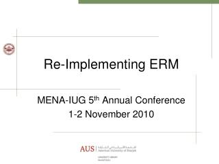 Re-Implementing ERM