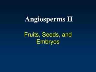 Angiosperms II
