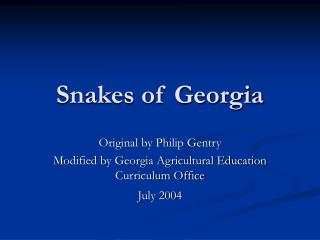 Snakes of Georgia