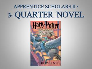 APPRENTICE SCHOLARS II •  3 rd QUARTER  NOVEL
