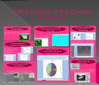 CSE 3 Projects of the Quarter By Victoria  Licht