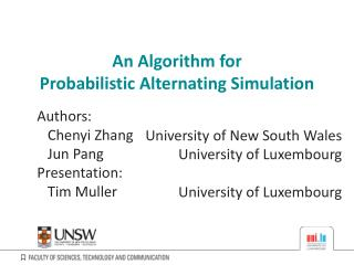 An Algorithm for Probabilistic Alternating Simulation