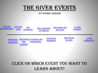 The Giver Events