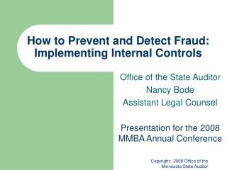 How to Prevent and Detect Fraud: Implementing Internal Controls
