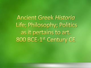 History: Beginnings of Western Civilization Greeks called themselves Hellenes Ethnicity