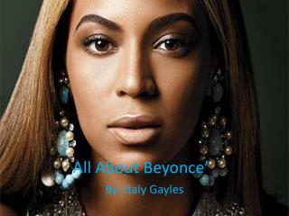 All About Beyonce'