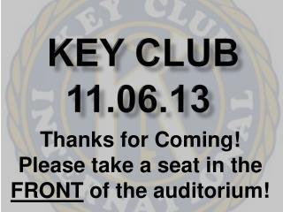Key Club 11.06.13