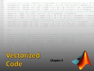 Vectorized Code