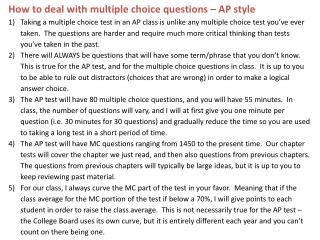 M.C. Questions on AP Test