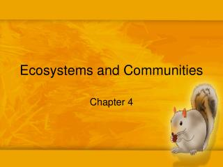 Ecosystems and Communities