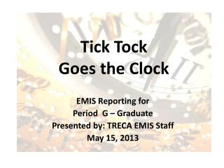 Tick Tock  Goes  the Clock