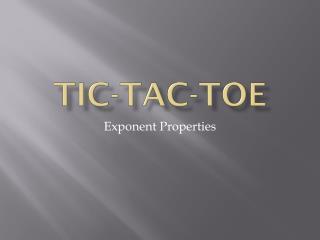 Tic- Tac -Toe