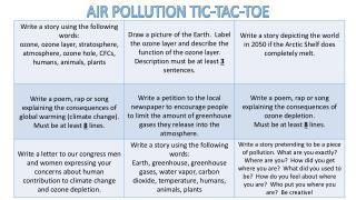 AIR POLLUTION TIC-TAC-TOE
