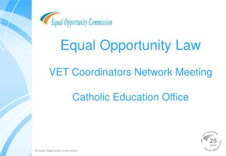 Equal Opportunity Law VET Coordinators Network Meeting ...