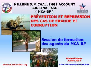 Session de formation des agents du MCA-BF