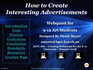 poster advertisement - BGSU :: Academics :: University Home Page