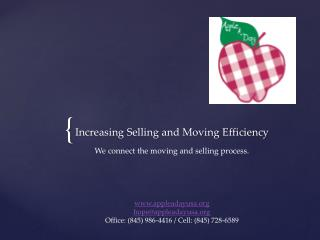 Increasing Selling and Moving Efficiency