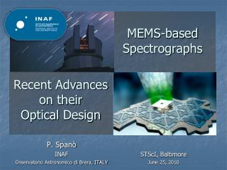 MEMS-based Spectrographs