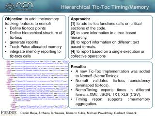 Hierarchical Tic-Toc  Timing/Memory