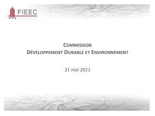 Commission Développement Durable et Environnement