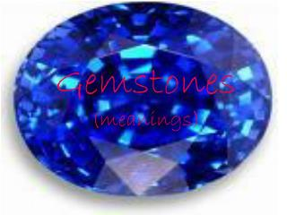Gemstones  (meanings)