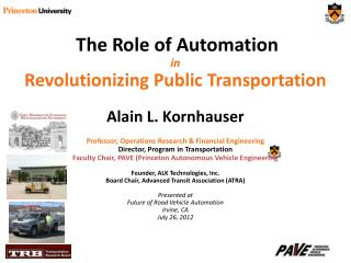 The Role of Automation in Revolutionizing Public Transportation