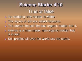 Science Starter 4/10