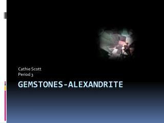 Gemstones-Alexandrite