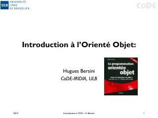 Introduction à l'Orienté Objet: