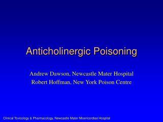 Anticholinergic Poisoning