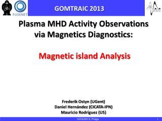 Plasma MHD  Activity Observations via Magnetics Diagnostics : Magnetic island Analysis