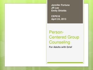 Person-Centered Group Counseling