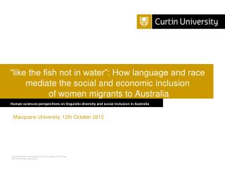 Human sciences perspectives on linguistic diversity and social inclusion in Australia