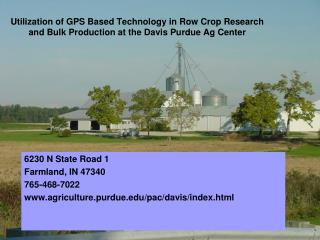 6230 N State Road 1 Farmland, IN 47340 765-468-7022