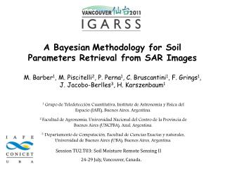 A Bayesian Methodology for Soil Parameters Retrieval from SAR Images