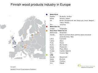 Finnish wood products industry in Europe