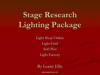 Stage Research Lighting Package