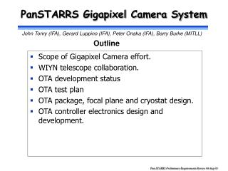 PanSTARRS Gigapixel Camera System