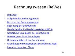 Rechnungswesen (ReWe)