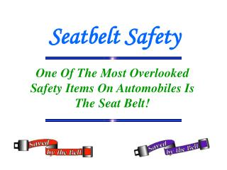 Seatbelt Safety