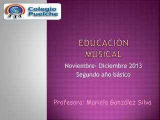 Educaci�n Musical